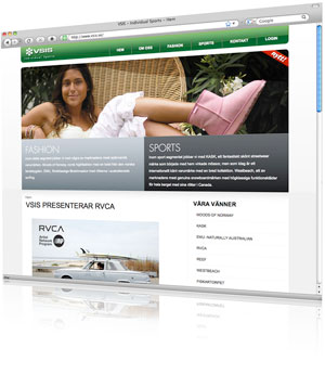 vsis valde kreativ bureau för att skapa deras webbplats