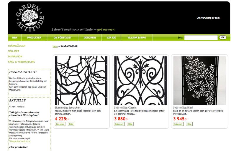 Garden attitude satsar på webbshop