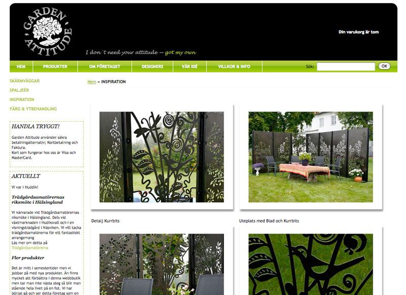 Garden attitude satsar på webbshop och produkt fokus