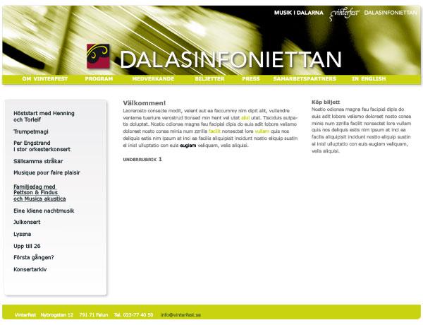 Musik i Dalarna Dalasinfoniettan Sida