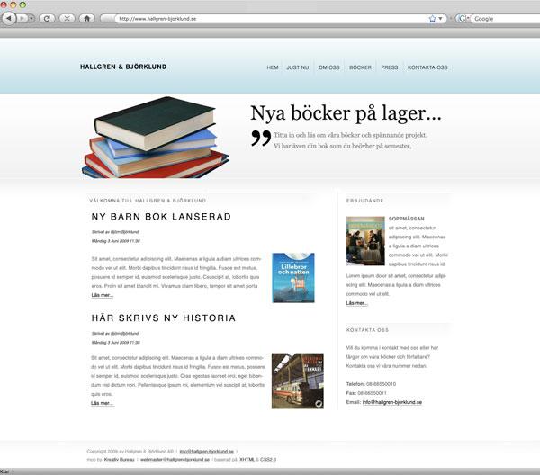 Startsida för Hallgren Björklund