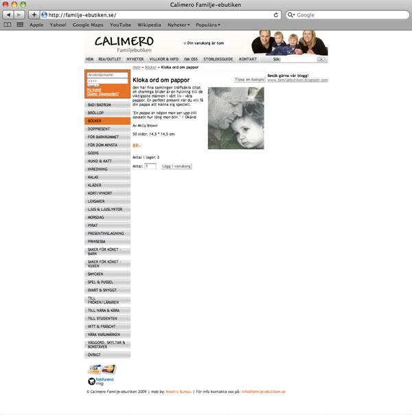 calimero-webbshop
