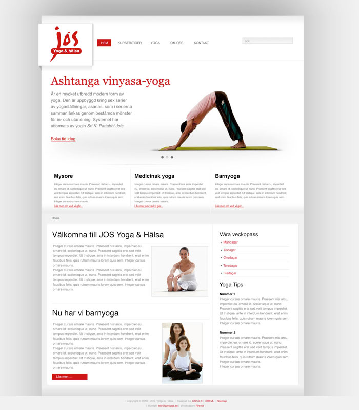 Jos Yoga Förslag på Huvudsida
