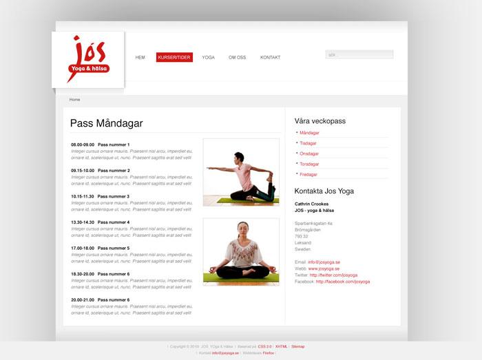 Jos Yoga Undersida Standard